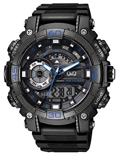 Q&Q Analog-Digital Black Dial Men's Watches - GW87J003Y