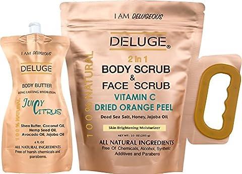DELUGE - Vitamin C Scrub. Dried Orange Peel. Dead Sea