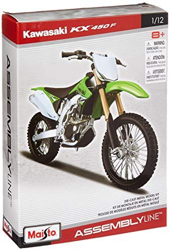 Maisto Model Kit - Kawasaki KX 450F Motobike - Maßstab 1:12 - RT39175 Kx Audio