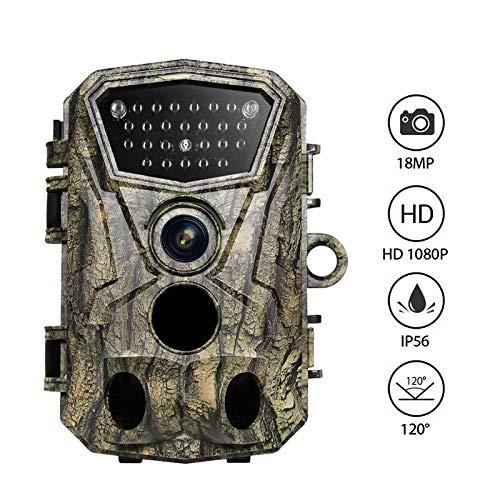 "WMWHALE Wildkamera 18MP 1080P 2,4""LCD-Farbdisplay Trail-Kamera 24Pcs IR-LEDs 120 ° Weitwinkelobjektiv PIR-Objektiv Scouting Nachtsichtfalle Jagdkameras"