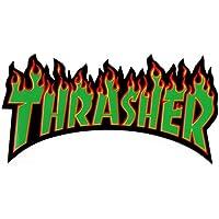 Thrasher Magazine Vert Flamme Skateboard Autocollant 15cm de large Environ–Planche de skate SK8NEUF Skating