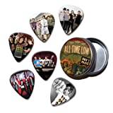 All Time Low Set of 6 Loose Guitar Médiators in Tin ( Collection D )