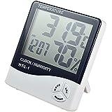Velveeta Digital Hygrometer Thermometer Humidity Meter With Clock Lcd Display Htc-1