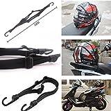 Sangle élastique rétractable avec 2 crochets de fixation de casque de moto pour porte-bagages 60 cm