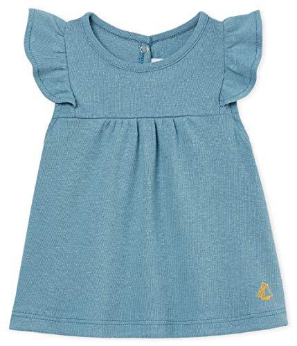 Petit Bateau Baby - Mädchen T-Shirt Blouse MC_4728902, Blau (Fontaine 02), 92 (Herstellergröße: 24M/86cm)