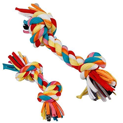 CDKJ 2PCS Spielzeug Seil Haustier Hund Spielzeug Beißring Spielzeug interessant Geschenk für Haustiere