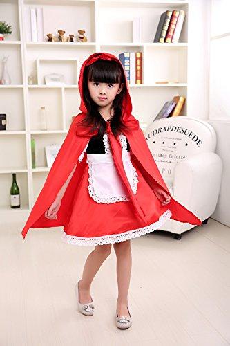 Imagen de disfraz de caperucita roja para halloween, para niñas, con capucha y capa alternativa