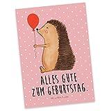 Mr. & Mrs. Panda Postkarte Igel mit Luftballon - 100% handmade in Norddeutschland - Herzlichen Glückwunsch, Geburtstag, Geschenkkarte, Karte, Glückwunsch, Papier, Postkarte, Ballon, Pappe, Igel, Happy Birthday, Ansichtskarte