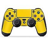 DeinDesign Sony Playstation 4 Pro Controller Folie Skin Sticker aus Vinyl-Folie Aufkleber Yellow Gelb Sonnengelb