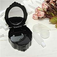 Mini boîte lentilles de contact en miroir Kit de voyage Container support verres