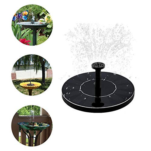 ZALMJ Solarbetriebene Vogelbad-Springbrunnenpumpe & Solarpanel-Kit Wasserpumpe & Pool, Garten, Aquarium, Aquarium (Solar-pool-reel)