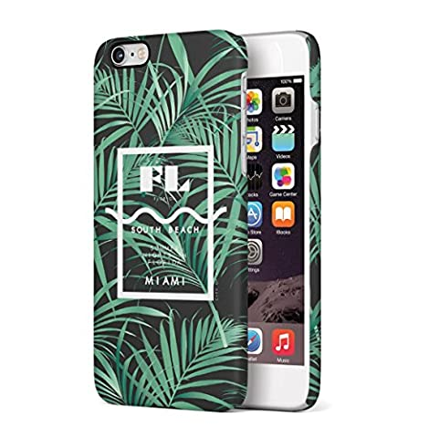 South Beach Florida Miami Paradise Palm Trees Tropical Apple iPhone 6 , iPhone 6S Snap-On Hard Plastic Protective Shell Case Cover Tasche Handy Hülle
