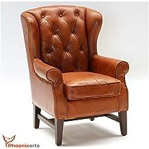 Amazon fauteuil cuir vintage inox
