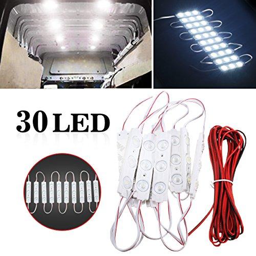AMBOTHER-10x-3LED-Auto-Innenbeleuchtung-Lampe-Interior-Licht-Arbeitsleuchten-Leseleuchte-LED-Panel-Kits-mit-LED-Projekt-Lampe-Dachlicht-Deckenlampe-Wei-12V