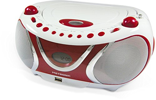 Metronic 477117 CD-MP3-Radio Weiß/Rot