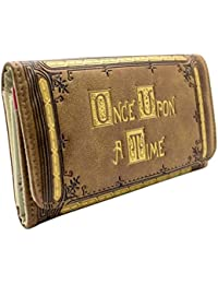 Cartera de ABC Once Upon a Time grabada en relieve oro marrón