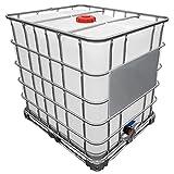 REKUBIK 1000l IBC Wassertank GESPÜLT auf Stahlpalette