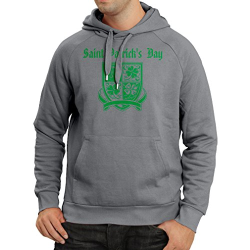 Kapuzenpullover Saint Patrick's day Shamrock symbol - Irish party time (Small Graphit Mehrfarben)
