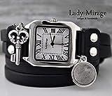Beton Echtleder Armbanduhr