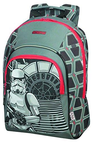American tourister - Disney New Wonder - Star Wars Backpack S+ JR School Backpack, 35 cm, 11.1 liters, Multicolour (Star Storm Trooper)