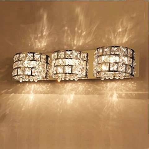 LYNDM Nuovo cristallo moderna lampada da parete LED Bagno illuminazione notturna di cristallo Luce specchio moderno,14W 41cm,bianco caldo (2700-3500K)(#JD-1477)