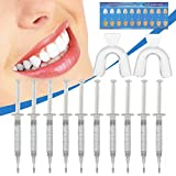 LuckyFine Teeth Whitening Kit Zu Hause Professionelle Zahnaufhellung Set Zahnweiß-Bleichsystem, 10x Teeth Whitening 2x Dental Trays Gel Kit