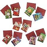 MagiDeal 10x Klappbare Grußkarten Glückwunschkarten Geschenkkarten Einladungskarten, Weihnachten Stil