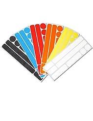 Reflektor Aufkleber Set für Fahrrad, Helm, Kinderwagen oder Gehhilfe, reflektierende Aufkleber