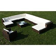 Tidyard Conjunto Muebles de Jardín de Ratán 35 Piezas Sofa Jardin Exterior Sofas Exterior Jardin Ratan