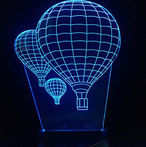 ZJFHL Hot Air Balloon Shaped 3D Lampe Beleuchtung LED Tisch Stimmung Nachtlicht Multicolor Touch oder Remote Change Table