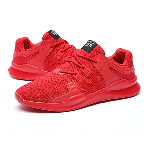 XIANV Freizeitschuhe Herren & Paar Schuhe Trainer Sneaker Mesh Air Breathable Flats Schnüren Sich Größen 44 Rot