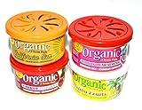 L&D Organic Scent Pad Duftdose 4-er Pack Topseller MIX Cherry - Bubble Gum - California Sun und Malibi Fruits