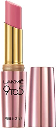 Lakme 9To5 Primer + Crème Lip Color, Rose Alert CP5, 3.6 g