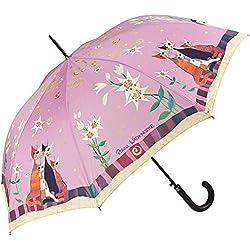VON LILIENFELD Paraguas Automática Mujer Motivo Arte Gato Floral Rosina Wachtmeister: Lirio