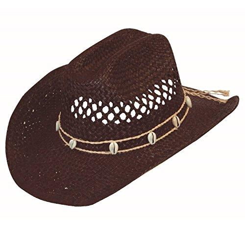 Preisvergleich Produktbild Scippis Western Cowboy Strohhut Clayton Braun Gr. M