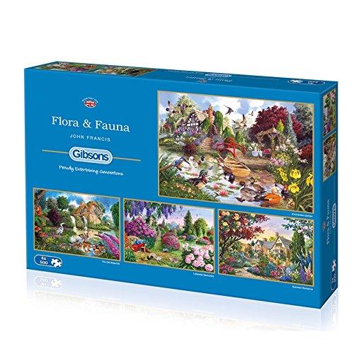 Gibsons Flora und Fauna Puzzle (4x 500Teile)