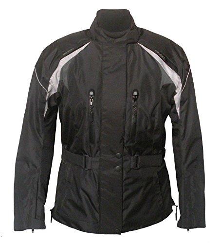 Motorradjacke, Textiljacke für Damen schwarz-grau - 42/44