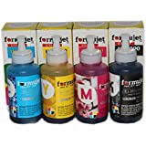 Formujet IE L200 Ink For Epson - Set Of 4 Colors 70 Gm For Epson Printers Like L200 Ink Tank Printer L100, L110 , L130, L200, L210, L220, L300, L310, L350, L355, L360, L365, L455, L550, L555, L565, L1300 (Cyan, Yellow, Magenta & Black)