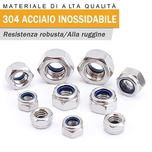 300 assortiti 4 mm metrico in alluminio//acciaio standard a Cupola Testa Rivetti Pop