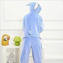 Moolee Animal style kigurumi Pyjama Adulte Anime pyjamas tenue Onesie Cospaly Fête Flannels costume(XL, stitch)