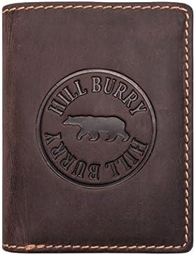 Hill Burry Cartera de cuero Genuino | Hombre Monedero - Monedero Varón | Portamonedas de cuero de calidad para...