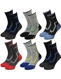 6 Paar Herren Sport Freizeit Socken Motiv Sport mit geripptem Bund mehrfarbig