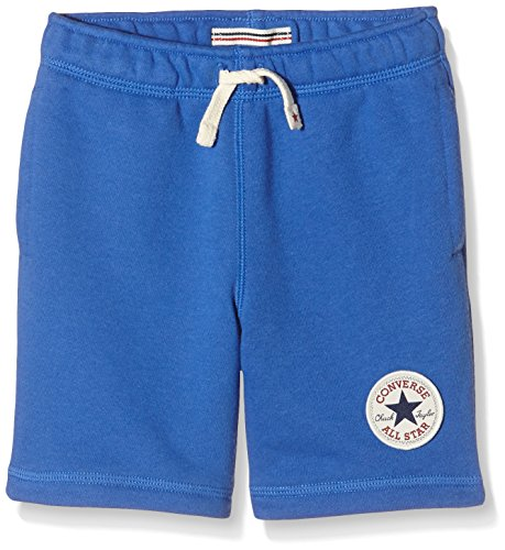 Converse French Terry, Shorts Bambino, Blu (Oxygen Blue), Medium (Taglia Produttore: 10-12Y)