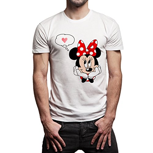 Mickey Mouse Disney Dope Icon Swag Colour Imagine Mini Love Herren T-Shirt Weiß
