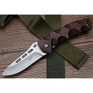 J.C.H. Natürlich Rosenholz Klappmesser Jagdmesser Überlebensmesser Taschenmesser Hunting Folding knife, AISI420