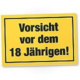 DankeDir! Vorsicht vor Dem 18 Jährigen, Kunststoff Schild - Geschenk 18. Geburtstag Männer, Geschenkidee Geburtstagsgeschenk Achtzehnten, Geburtstagsdeko/Partydeko / Party Zubehör/Geburtstagskarte