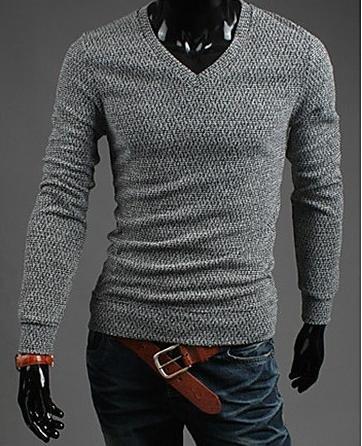 XX&GX Uomo V Neck Cardigan , gray , m gray