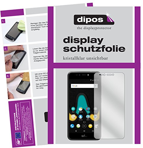 dipos I 2X Schutzfolie klar passend für Wiko Upulse Folie Bildschirmschutzfolie
