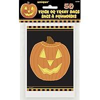 50 bolsas de caramelos calabaza Halloween