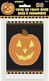 Unique Party Supplies Halloween-Taschen mit leuchtendem Kürbis, 50Stück